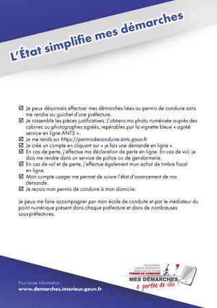 procédure   Le Permis de conduire   Les téléprocédures à portée de ... b8cbead52ec0